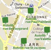 Stations Autolib proches de la rue de Richelieu