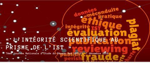 Bannière d'entête du site dédié à la JNE sur l'intégrité scientifique au prisme de l'IST