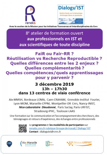 Affiche du programme de la journée - site INIST-CNRS